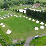 Aerial of Campfire Field @ www.stonehengecampsite.co.uk