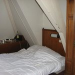 double bed between roof beams