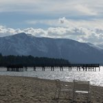 View from the beach at the Tahoe Beach & Ski Club