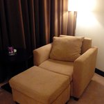 the room with lazy sofa