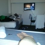 2nd bed and TV