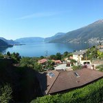 View of lake como from our private balcony.
