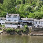 The Ferrie Inn from the river.