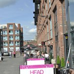 Cafes & hair salon at Gloucester Quays (near parking and waterways museum)