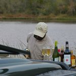 Sundowners being prepared by Julius