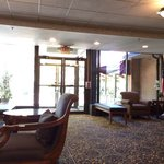 The lobby - a very comfortable and welcoming space. The staff is extremely polite!