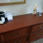 dresser drawers with ice bucket & cup