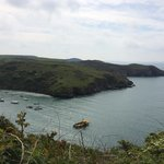 Looking down onto Solva port
