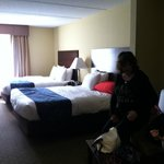 Our room 2 Queen Beds and fold out couch