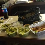 Carnitas/Wild Boar/Guac Sampler. Notice - these are not sampler size guacamole servings!