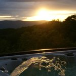 Sunset from hot tub