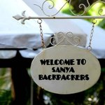 A welcome signage from Sanya Backpackers
