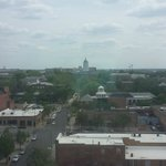 view of downtown Columbia and Jesse Hall from room