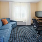 The King suite with sofabed at the Fairfield Inn & Suites Chicago Naperville/Aurora