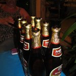 The much appreciated Angkor Beer - empty