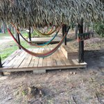 Hammocks are all over the compound