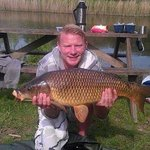 Carp caught on lake 16.2ibs
