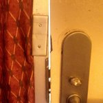 Does this locked and bolted door look safe - NOT