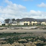 A view from the beach of the Clonea Strand Hotel