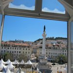 View from room Bica (Rossio Square and the castle)