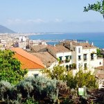The city view from the Minerva gardens in Salerno