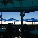View of the beach from nearby Sloppy Joe's