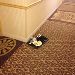 Food that was laying in he hallway for at least 20 hours
