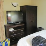 Flat screen TV and armoire