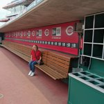 in the Reds dugout