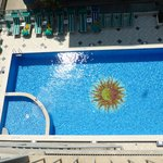 The Pool, taken from the top of the fire escape!