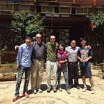 The staff of Baisha Holiday Resort along with my Dad and I. These folks are the best!