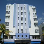 one of the colorful Art Deco hotels on the tour