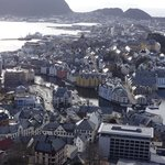 Alesund from the top of the hill