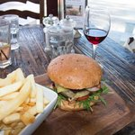 Burger special (Great wine list!)