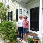 My sister and me at the front porch