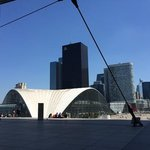 standing right under the Grande Arche