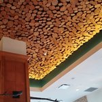 The ceiling in the Flatz restaurant