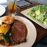 Prime rib and Caesar salad! YUMMO
