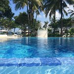 The pool - prefect temp & with a wading pool