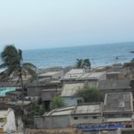 view from room(sea and slum)