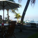 The warung view on the beach