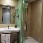 shower and dressing area