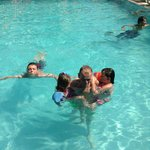Ga Ga,,Dad and kids in the pool