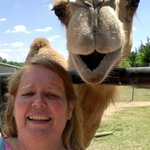 Selfie with Chewy the camel