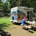 We were well parked at Cannon Beach RV Park