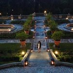 italian garden at night