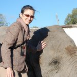 B&B Owner Christina with African friend - 2010