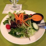 "House salad at the ""Elephant Walk"" restaurant. One of the freshest tasting salads I've had in a"