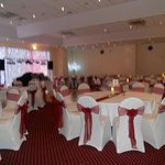 OUR BEAUTIFUL WEDDING RECEPTION ROOM ALL SET TO GO!