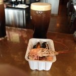 Free seafood with a pint!